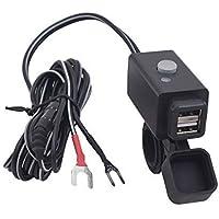 r2digital/® Presa Alimentazione Doppia USB 1A 2,1A da Incasso per Auto Camper Moto Vite Tappo Impermeabile SOSTITUIRE Porta ACCENDISIGARI