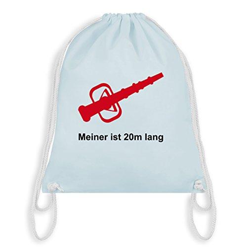 Feuerwehr - Meiner ist 20cm lang - Unisize - Pastell Blau - WM110 - Turnbeutel & Gym Bag