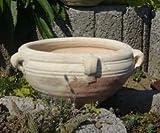 Schale Blumentopf echt Terrakotta 32 cm, Blumenkübel für Garten und Wohnung Terracotta ........... kein Kunststoff, Blumen