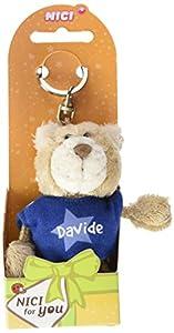 NICI n15861-Llavero Oso con Camiseta Davide, Azul