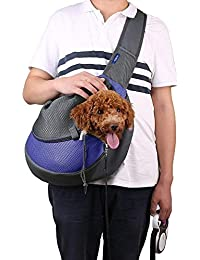 GHARDHANI Breathable Dog Front Carrying Bags Mesh Comfortable Travel Tote Shoulder Bag For Puppy Cat Small Pets...