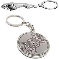 EASY4BUY Car & Bike Jaguar and Calendar Steel Key Chain Keychain Ring