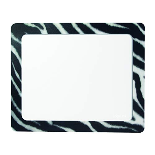 """LogiLink ID0168 Mauspad mit Fotoeinschub, \""""Zebra\"""", Abmessung: 230 x 190mm Transparent"""