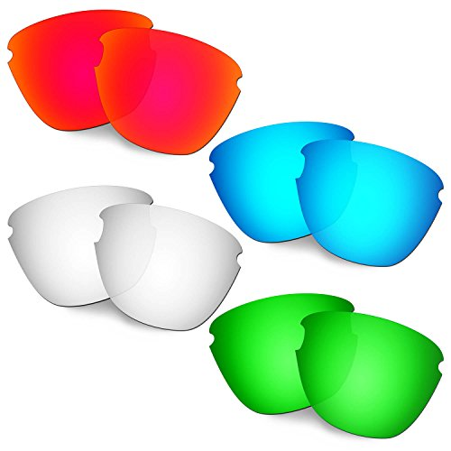 HKUCO Verstärken Ersatz-Brillengläser für Oakley Frogskins Lite Rot/Blau/Titan/Grün Sonnenbrille