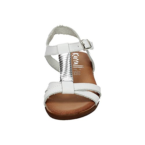 KARRALLI , sandales fille Blanc - argenté