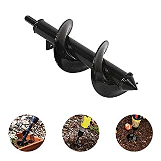 Womdee Power Planter, Hand Drill Digger Auger, Auger Ground Drill Garden Soil Cultivator Tool - Deep Cultivating - 8 cm Wide and 30cm Long - for Planting Seedlings and Bulbs