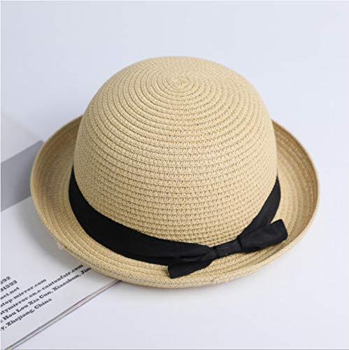 DongOJO Sombrero para el Sol Cinta Redonda Superior Plana Sombrero de Paja Sombrero de Verano Sombrero de Paja para Mujer Sombrero para el Sol