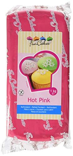 FunCakes Fondant -Hot rosa, 1er Pack (1 x 1000 g)