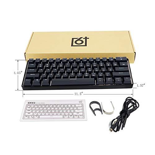Tree-on-Life GK61 Austauschbare 60% RGB-Tastatur Kit PCB-Montageplatte Gehäuse Gamer Mechanische Tastatur Gaming RGB-Tastatur (Tastatur-kit)