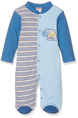 Schnizler Schlafoverall Interlock Bagger Ensemble de Pyjama, Bleu (Blue 7), Naissance (Taille Fabricant:50) Mixte bébé