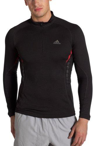 Adidas Herren Supernova sportswool langen Ärmeln Half Zip, Herren, Rubia Grey/Rave Red Preisvergleich