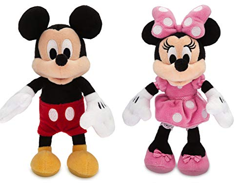 Disney Micky Maus und Minnie Maus Mini Bean Bag Stofftier Set 20cm - Mini-bean-bag