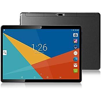 Tablets 10 Pulgadas Android 8.1,Octa Core,4GB de RAM,64GB de Memoria Interna,1280*800 HD IPS,3G Tablet,Dual SIM,WiFi/Bluetooth/GPS/OTG (Negro)