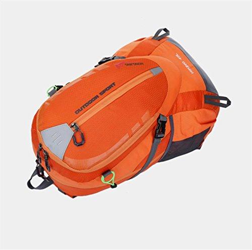 40L Wasserdichte Camping Rucksack Reise MäNner Und Frauen orange