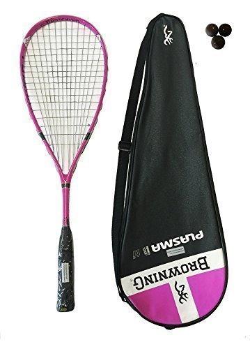 Preisvergleich Produktbild Browning Plasma Nano Ti 120 Rosa Squash Schläger + 3 x Dunlop Squash Bälle
