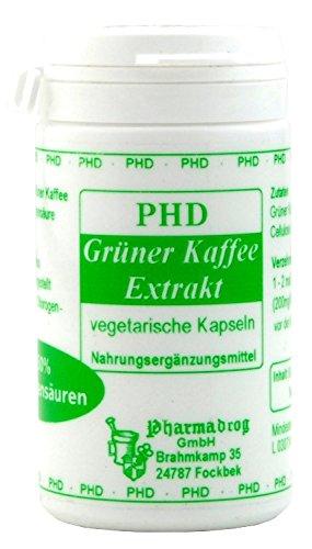 gruener kaffee extrakt kapseln 50% chlorogensaeur. 60 St