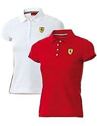 Ferrari Polo Femme Classique Blanc Taille M 09b6f3bd3387