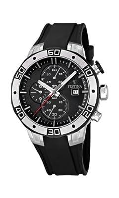 Reloj Festina F16667/6 de cuarzo para hombre con correa de caucho, color negro de Festina
