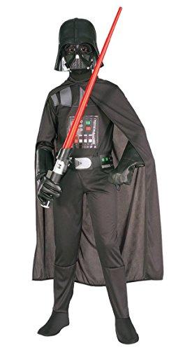 Jungen 4 Stück Darth Vader Star Wars Superheld Buch Tag Halloween Kostüm Verkleiden Outfit - (Vader Maske Top Kinder Darth Und)