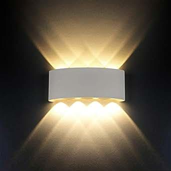 Lampada da parete, Moderno 8 W LED LED lampada da parete LED applique Interni decorativa per soggiorno, camera da letto, corridoio, scale, percorso (bianco caldo, luce bianca, shell)