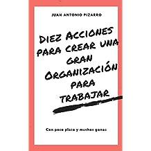 Diez acciones para crear una gran organización para trabajar: Con poca plata y muchas ganas (Spanish Edition)