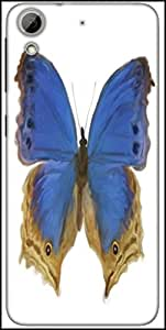 Snoogg Digital Painting Of A Butterfly Designer Protective Back Case Cover For HTC Desire 626