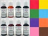 AmeriColor 'Junior' Soft Gel Paste Food Colour 8 Pack Kit