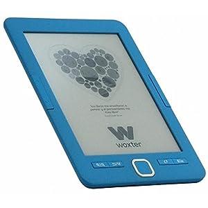 """Woxter E-Book Scriba 195- Lector de libros electrónicos 6"""" (800x600, E-Ink Pearl pantalla más blanca, EPUB, PDF) color azul"""