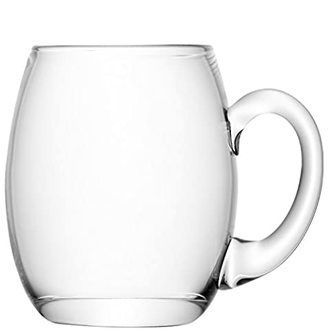 LSA International 500 ml Bar Beer Tankard, Clear