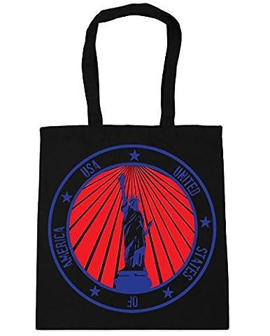 HippoWarehouse USA Statue of Liberty Tote Shopping Gym Beach Bag 42cm x38cm, 10 litres