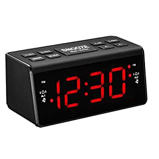 Alarm Clock Radio, Digital AM FM Dual Alarms Clock Radio Bedside for Bedroom