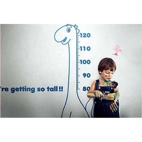 Newsee Decals dinosauro altezza grafico Wall stickers Decor decalcomanie Kids cameretta blu scuro