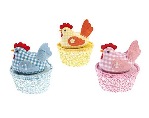 Eierkörbchen Hennen im 3-er Set