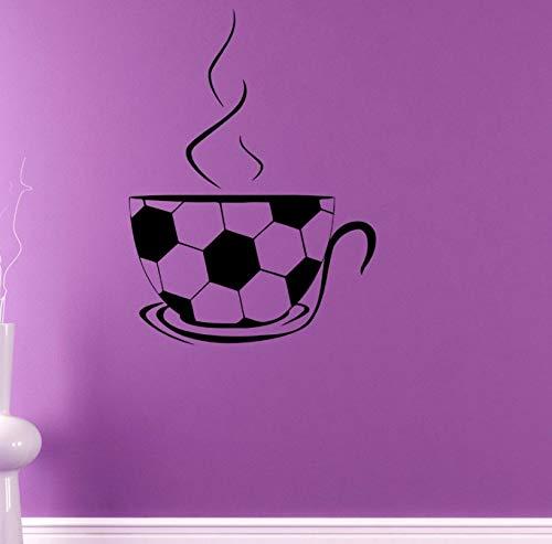 Pbldb 42X57 Cm Wandtattoo Fußball Tee Tasse Muster Vinyl Wandaufkleber Spezielle Design Jungen Schlafzimmer Kunst Dekor Removable Diy (Tee-tassen Spezielle)