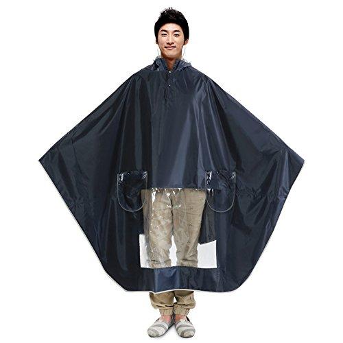 Huifang Vêtements de pluie QFFL Imperméable épaissir Seul Poncho Hommes Femmes équitation imperméables équitation électrique 2 Couleurs en Option XXXL imperméable