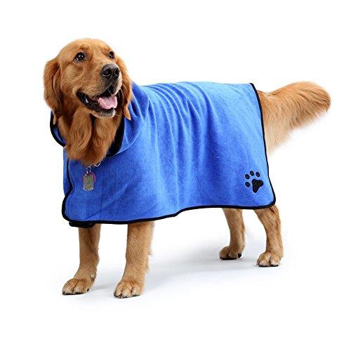 Perros Albornoz Microfibra Secado Rápido mascotas baño toalla para perro y gato
