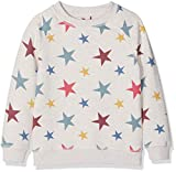 Fat Face Girl's Star Print Crew Neck Sweatshirt, (Dusk Blue Blu), Years (Size: 6-7)