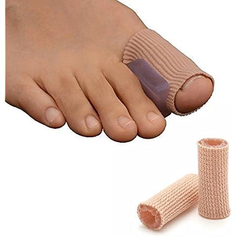 GreatIdeas & # 0153; Gel Toe separatore Tubo Bandage Plus Tubo di gel, lunghezza–consente sore/feriti (Bunion Bandage)