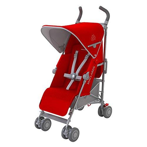 Maclaren Silla de paseo Quest de color rojo/gris, para recién nacidos, incluye...
