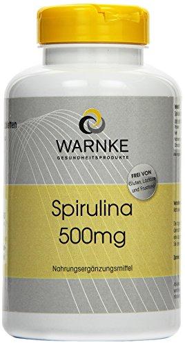 Warnke Gesundheitsprodukte Spirulina 500 mg, Spirulina Algenpulver, reich an Chlorophyll, 500 Tabletten, reines Pulver ohne Zusatzstoffe, Großpackung, vegi, 1er Pack (1 x 0.25 kg)