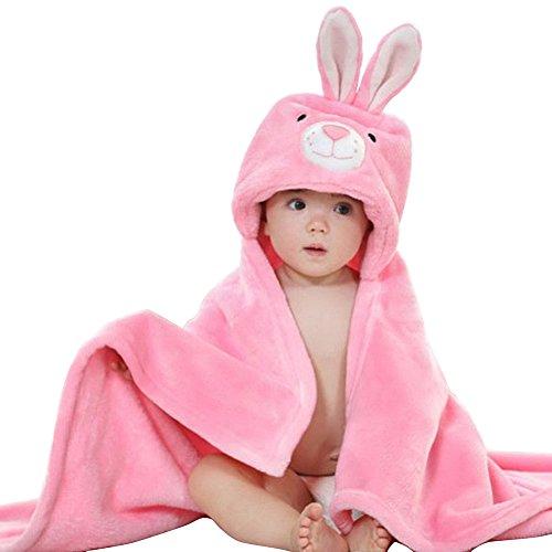 DINGANG Baby Kinder Kapuzenhandtuch–Tier-Gesicht, weich, Baby-Geschenk, 78x 85cm Gr. Einheitsgröße, kaninchen