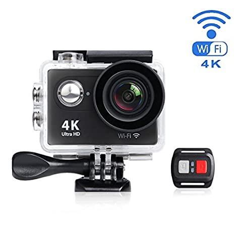 MixMart WIFI 4K Waterproof Action Sports Camera Ultra HD Carcorder 12MP Photo 170 Degree Wide Angle With Remote Control