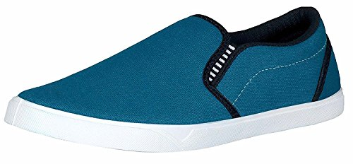 Tempo Men's SkyBlue Synthetic Leather Loafers Shoes(729SKYBLU)-9