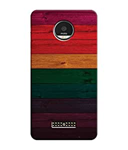 Sketchfab Multicolor In Wood Stain Beautifull Colorful Patterns Latest Design High Quality Printed Designer Back Case Cover For Motorola Moto Z Play