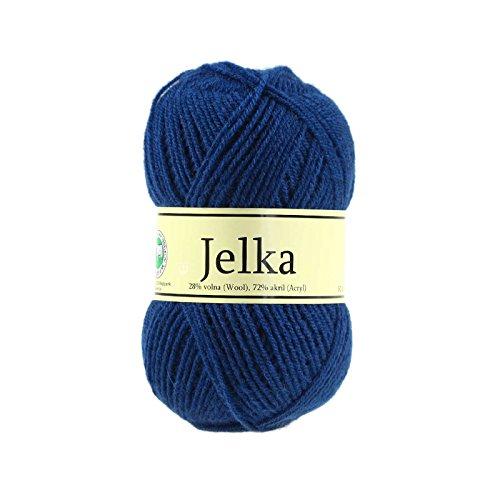 maDDma ® 50g Strickgarn JELKA m. 28% Wolle veredelt, Garn-Farbe wählbar, Stricken häkeln, Farbe:dunkelblau