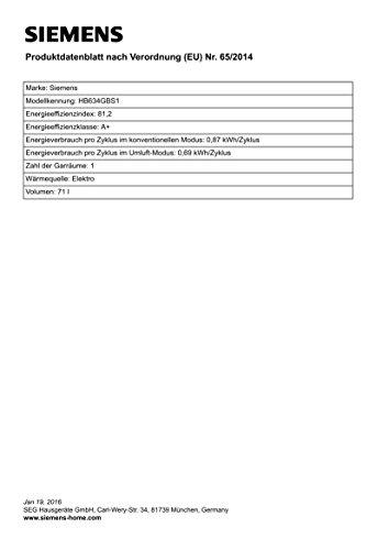 Siemens HB634GBS1 iQ700 Backofen Elektro / 71 L /Sanftgaren / Edelstahl - 3