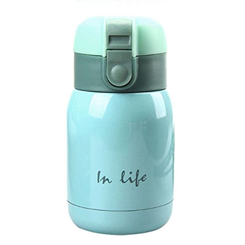 SODIAL(R) mini Inossidabile Acciaio Grande pancia Thermos bottiglia - (Cielo blu )...