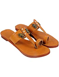 883a0a3ff Jaipuri Shop Women Ethnic Sandals Kohlapuri Elephant Brown Ethnic Slippers  Sandals WMO363
