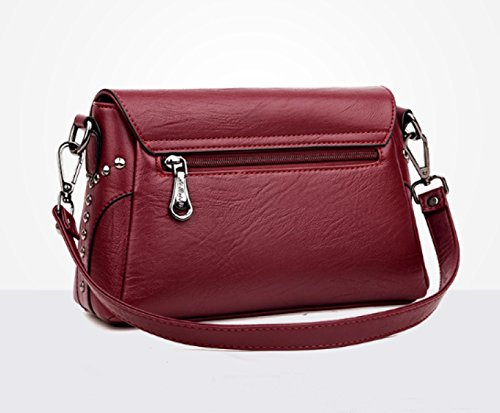 LAIDAYE Ladies 'Casual Ladies Borsa A Tracolla Messenger Bag Zaino In Pelle Morbida Purple