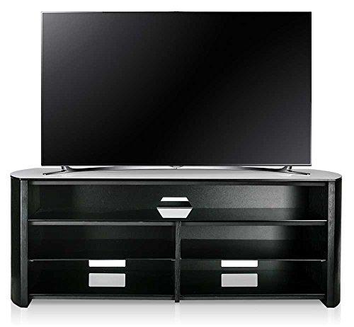 Alphason Finewoods FW1350SB-B Black TV Stand with Soundbar Shelf